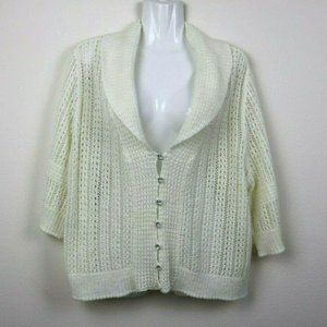 Cato Womens Sweater Cardigan Short Sleeve Knit 20W